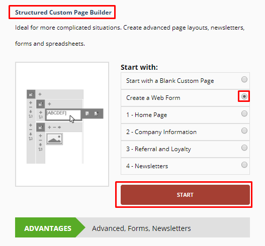 Create an Information Request Form